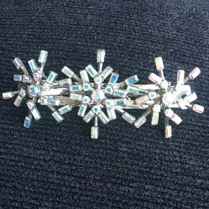 Kirks Folly Snowflake Frosted Hair Barrette